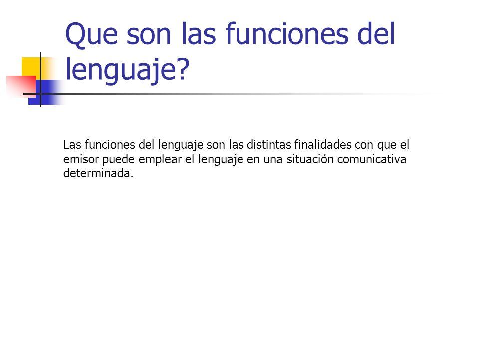Que son las funciones del lenguaje