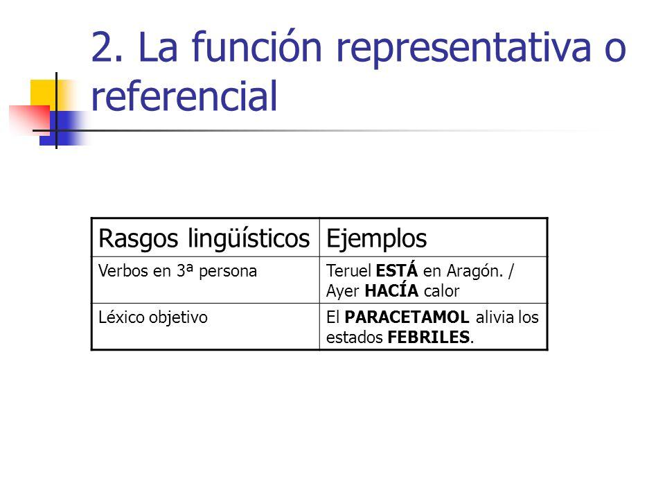 2. La función representativa o referencial
