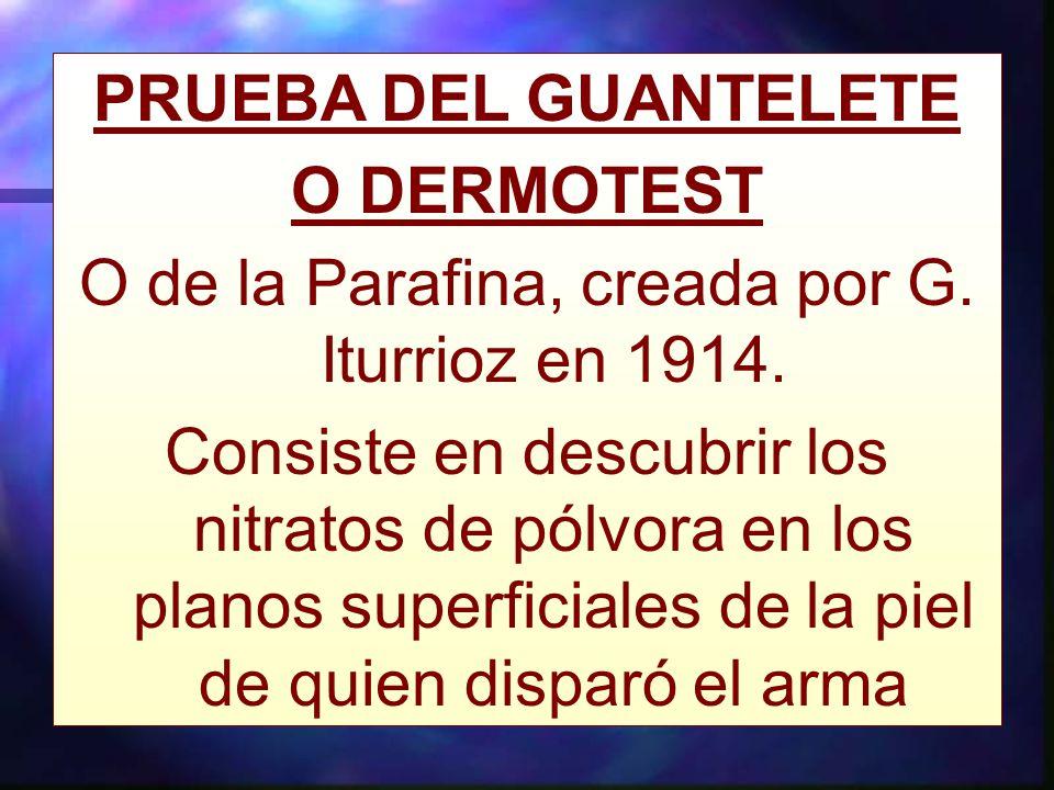 O de la Parafina, creada por G. Iturrioz en 1914.