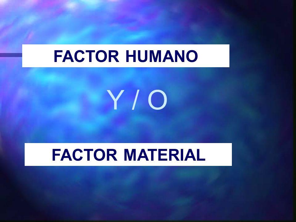 FACTOR HUMANO Y / O FACTOR MATERIAL
