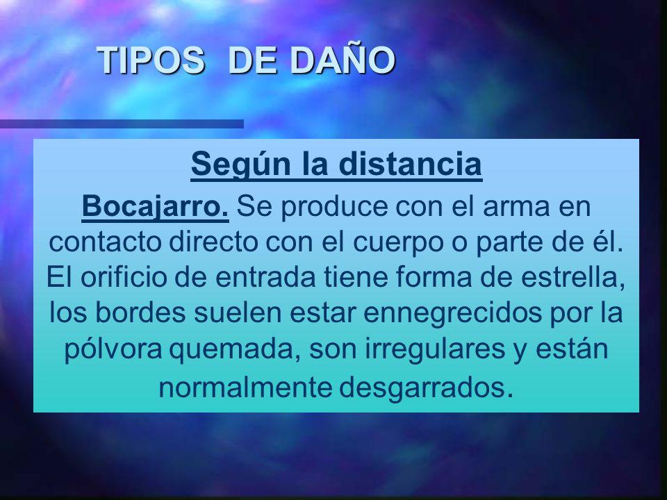 TIPOS DE DAÑO Según la distancia