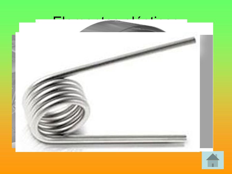 Elementos elásticos Elementos que se deforman por la acción de una fuerza y una vez que esta desaparece recupera su forma inicial.