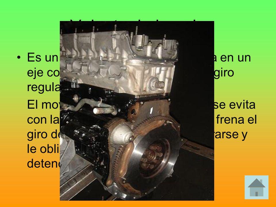 Volante de inercia Es un disco macizo , que se monta en un eje con la misión de garantizar un giro regular.