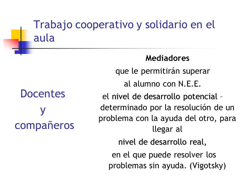 Trabajo cooperativo y solidario en el aula
