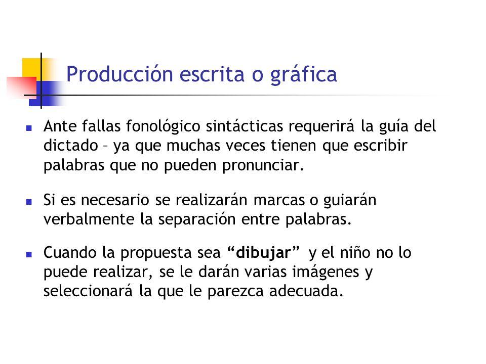 Producción escrita o gráfica