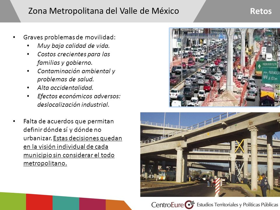 Zona Metropolitana del Valle de México Retos