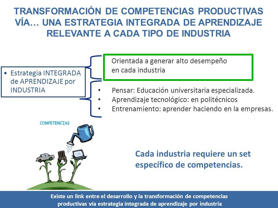 Cada industria requiere un set específico de competencias.