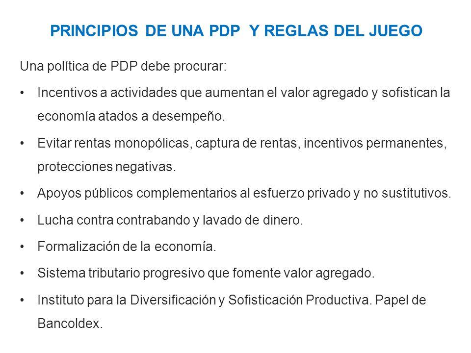 PRINCIPIOS DE UNA PDP Y REGLAS DEL JUEGO