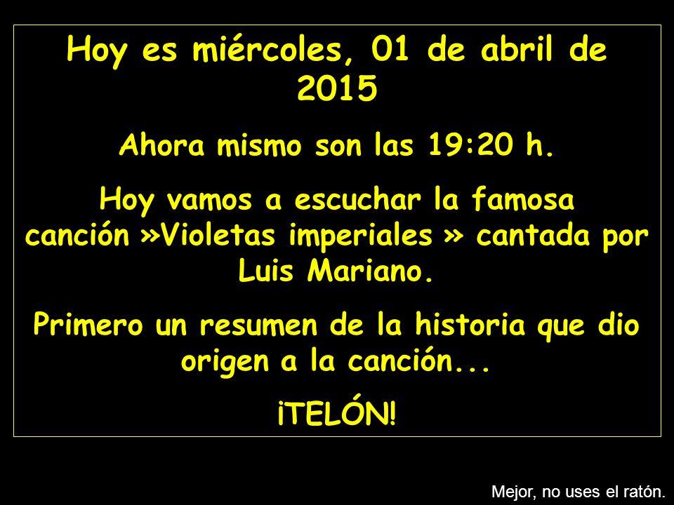 Hoy es domingo, 09 de abril de 2017