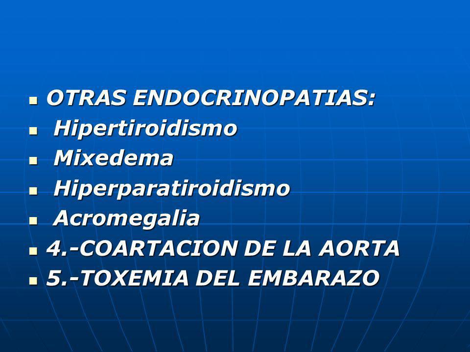 OTRAS ENDOCRINOPATIAS: