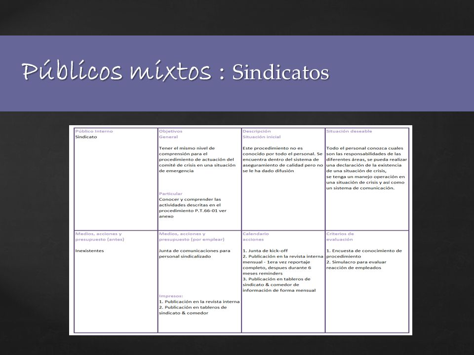 Públicos mixtos : Sindicatos