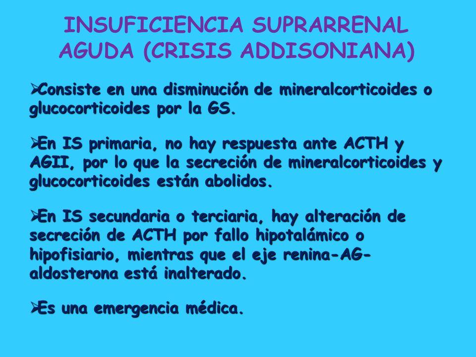 INSUFICIENCIA SUPRARRENAL AGUDA (CRISIS ADDISONIANA)
