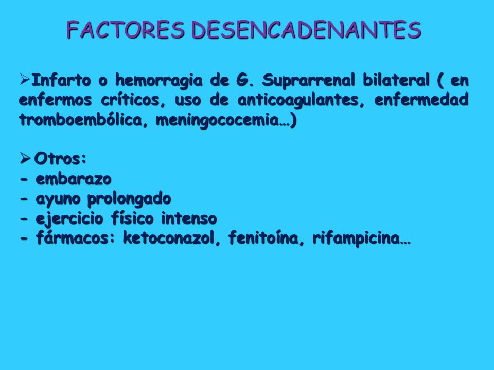 FACTORES DESENCADENANTES