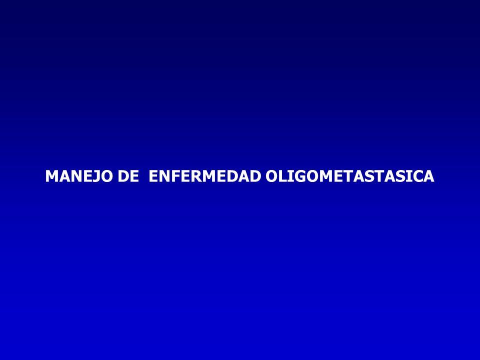 MANEJO DE ENFERMEDAD OLIGOMETASTASICA