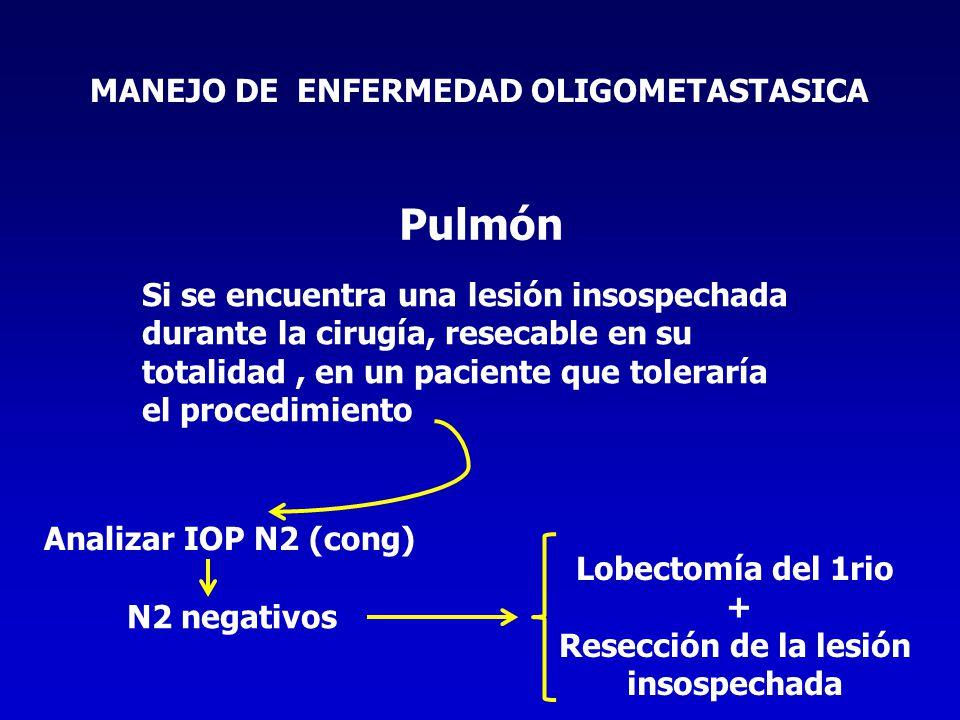 Pulmón MANEJO DE ENFERMEDAD OLIGOMETASTASICA