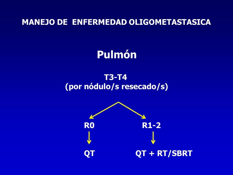 MANEJO DE ENFERMEDAD OLIGOMETASTASICA (por nódulo/s resecado/s)