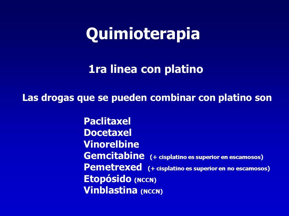 Quimioterapia 1ra linea con platino