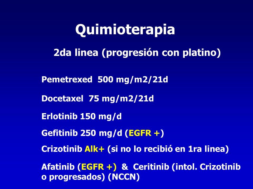 Quimioterapia 2da linea (progresión con platino)