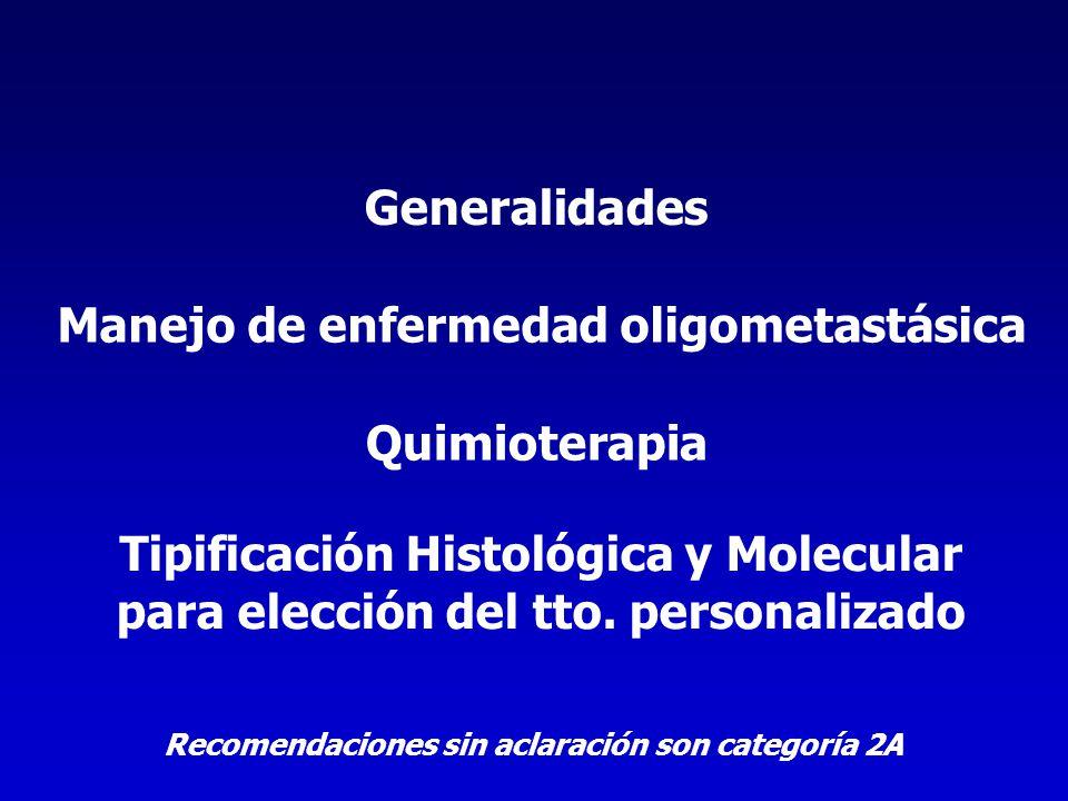 Manejo de enfermedad oligometastásica