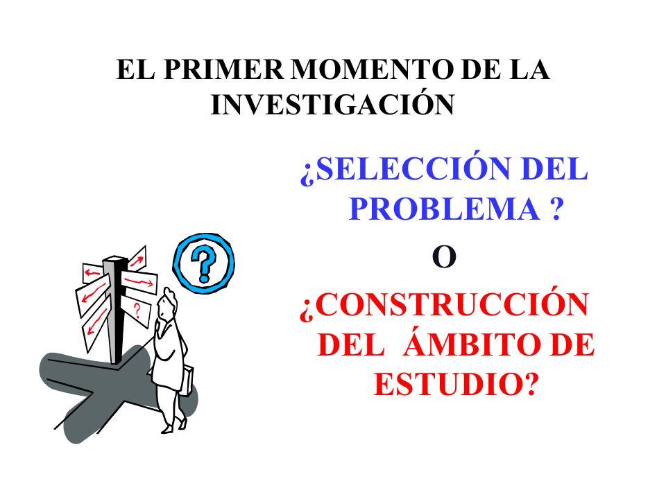 EL PRIMER MOMENTO DE LA INVESTIGACIÓN