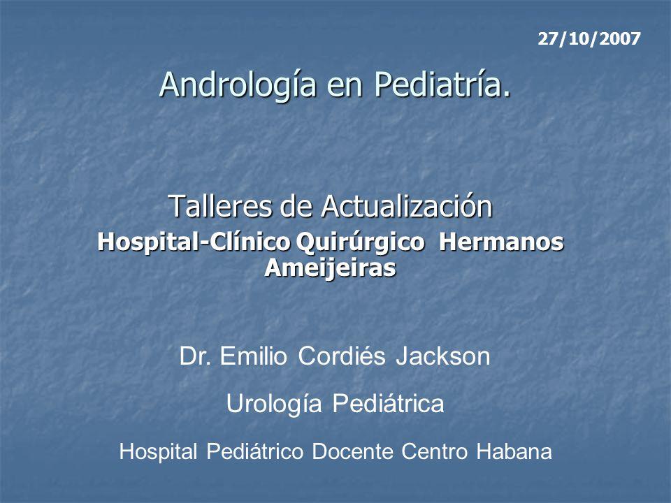 Andrología en Pediatría.
