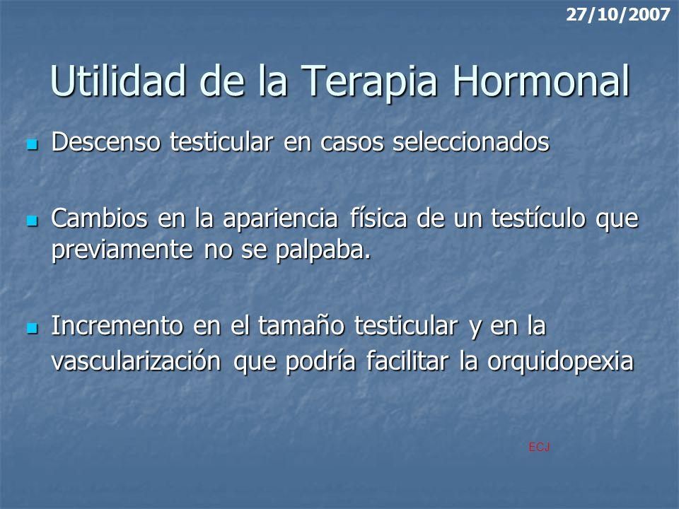 Utilidad de la Terapia Hormonal