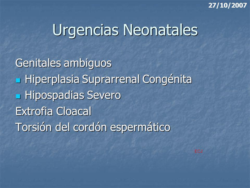 Urgencias Neonatales Genitales ambiguos