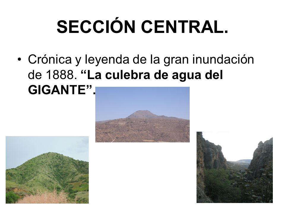 SECCIÓN CENTRAL. Crónica y leyenda de la gran inundación de 1888. La culebra de agua del GIGANTE .