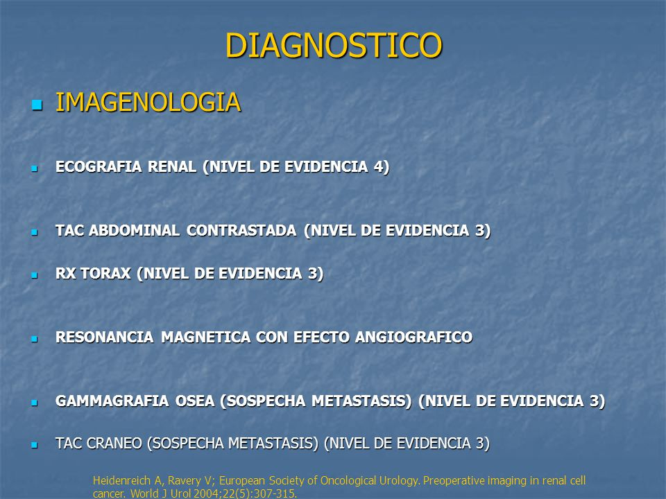 DIAGNOSTICO IMAGENOLOGIA ECOGRAFIA RENAL (NIVEL DE EVIDENCIA 4)