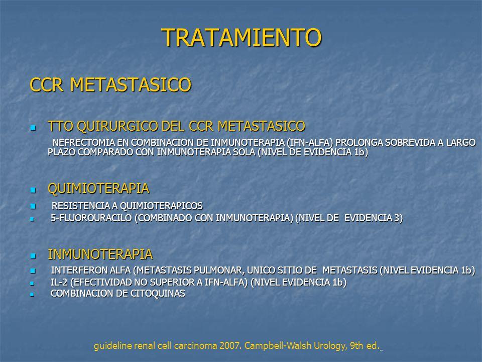 TRATAMIENTO CCR METASTASICO TTO QUIRURGICO DEL CCR METASTASICO