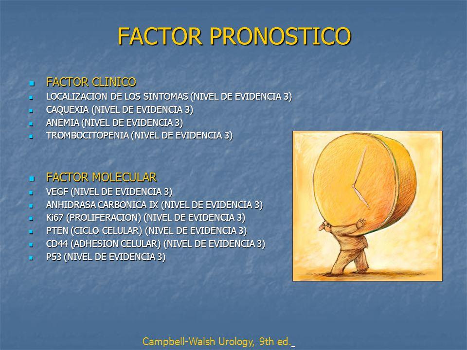 FACTOR PRONOSTICO FACTOR CLINICO FACTOR MOLECULAR