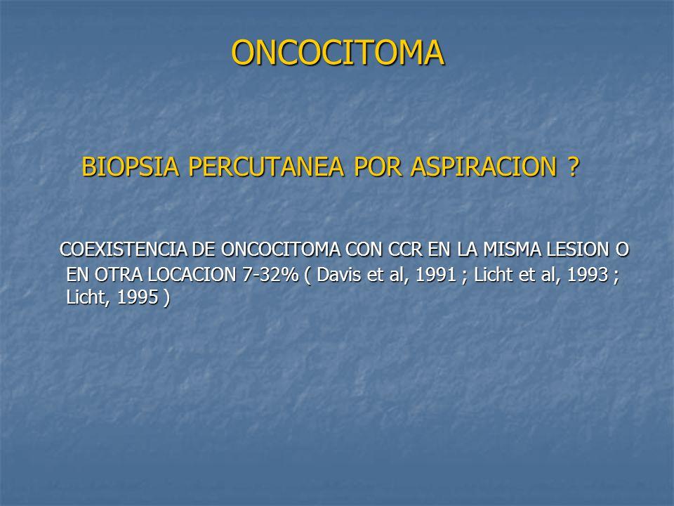 ONCOCITOMA BIOPSIA PERCUTANEA POR ASPIRACION