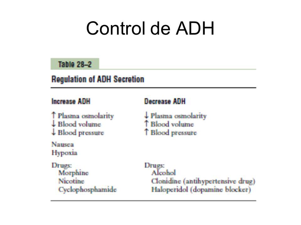 Control de ADH