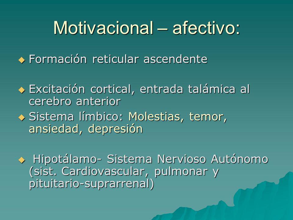 Motivacional – afectivo: