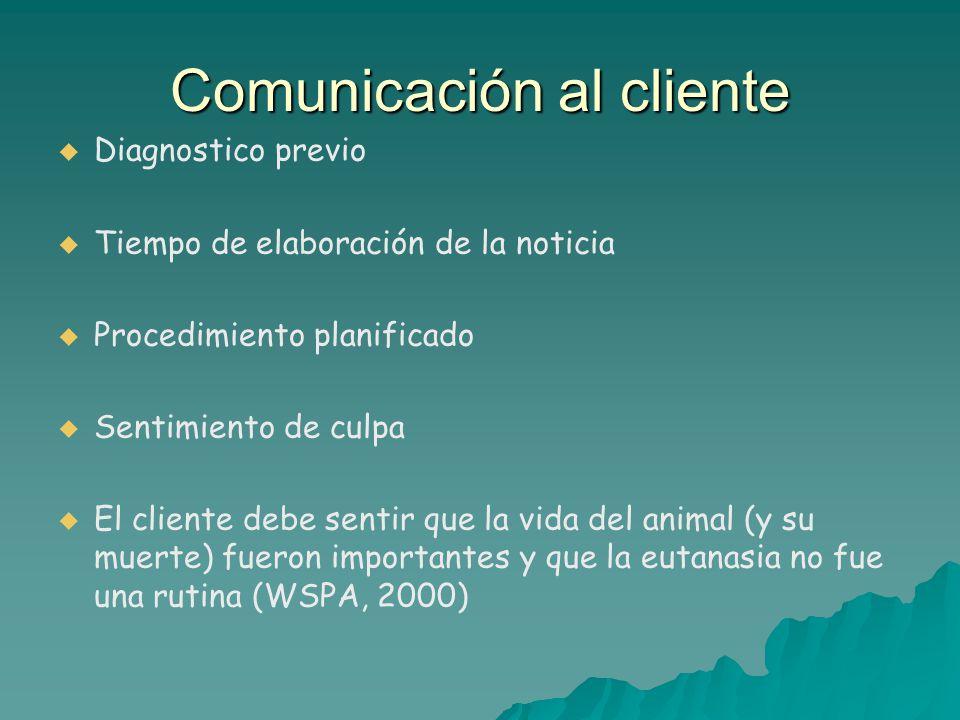 Comunicación al cliente