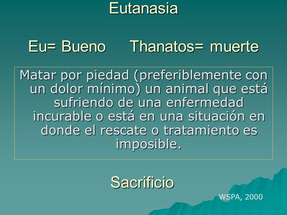 Eutanasia Eu= Bueno Thanatos= muerte