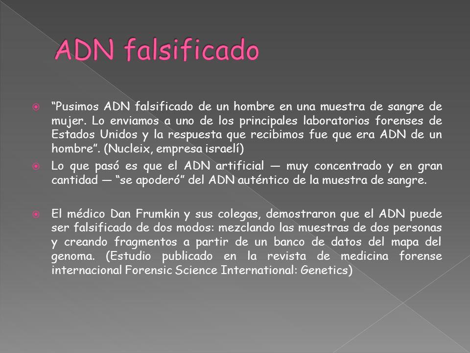 ADN falsificado