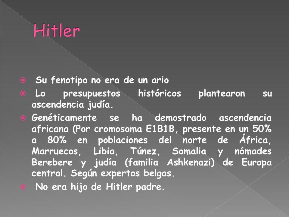 Hitler Su fenotipo no era de un ario