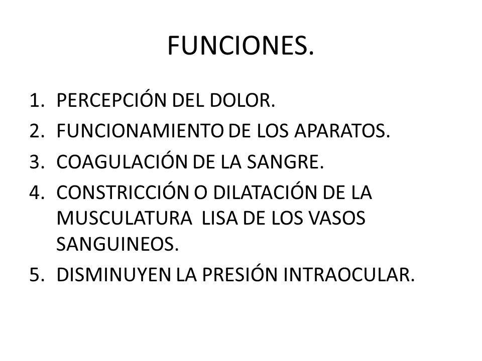 FUNCIONES. PERCEPCIÓN DEL DOLOR. FUNCIONAMIENTO DE LOS APARATOS.