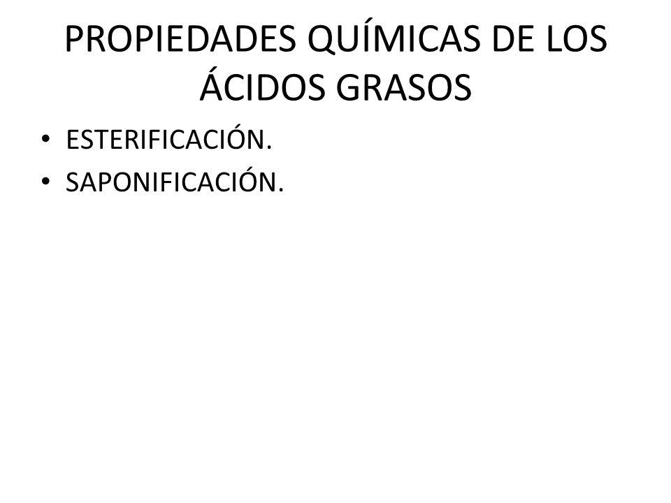 PROPIEDADES QUÍMICAS DE LOS ÁCIDOS GRASOS