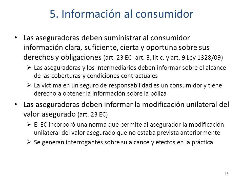5. Información al consumidor