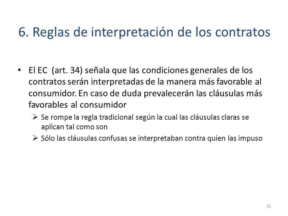 6. Reglas de interpretación de los contratos