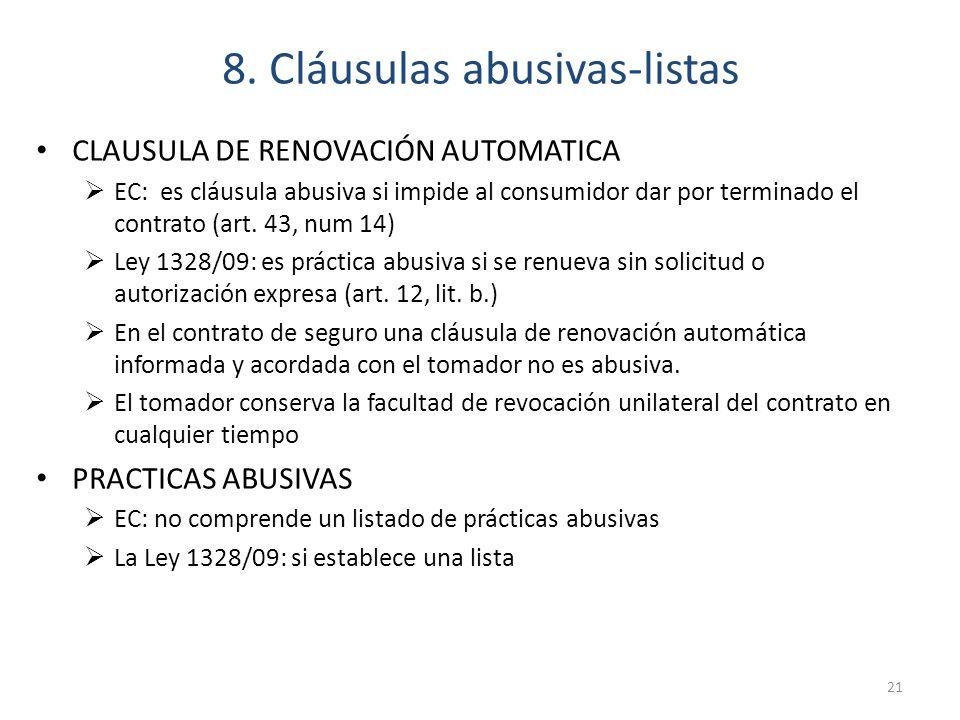 8. Cláusulas abusivas-listas
