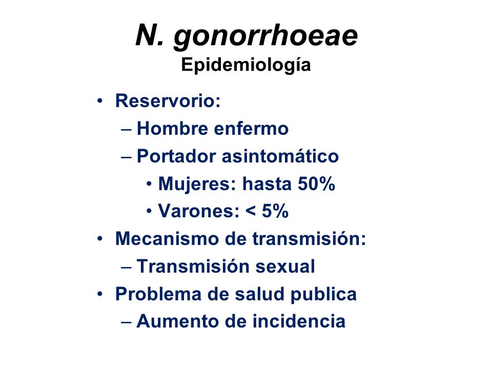 N. gonorrhoeae Epidemiología