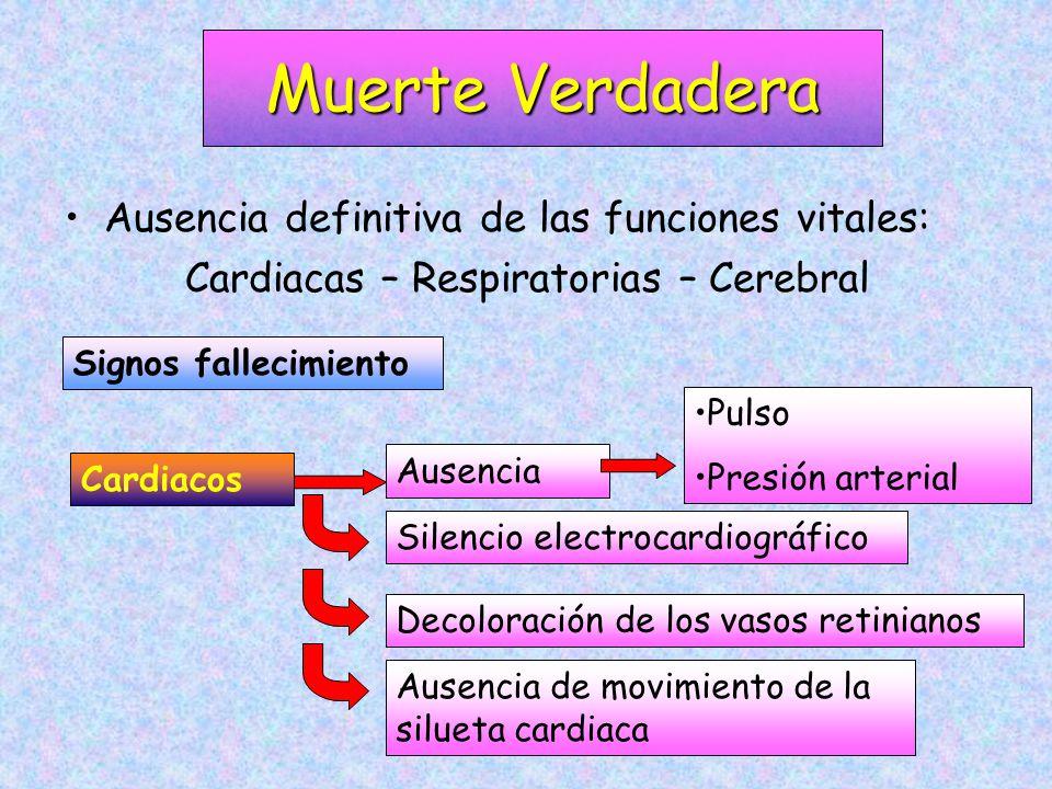 Cardiacas – Respiratorias – Cerebral