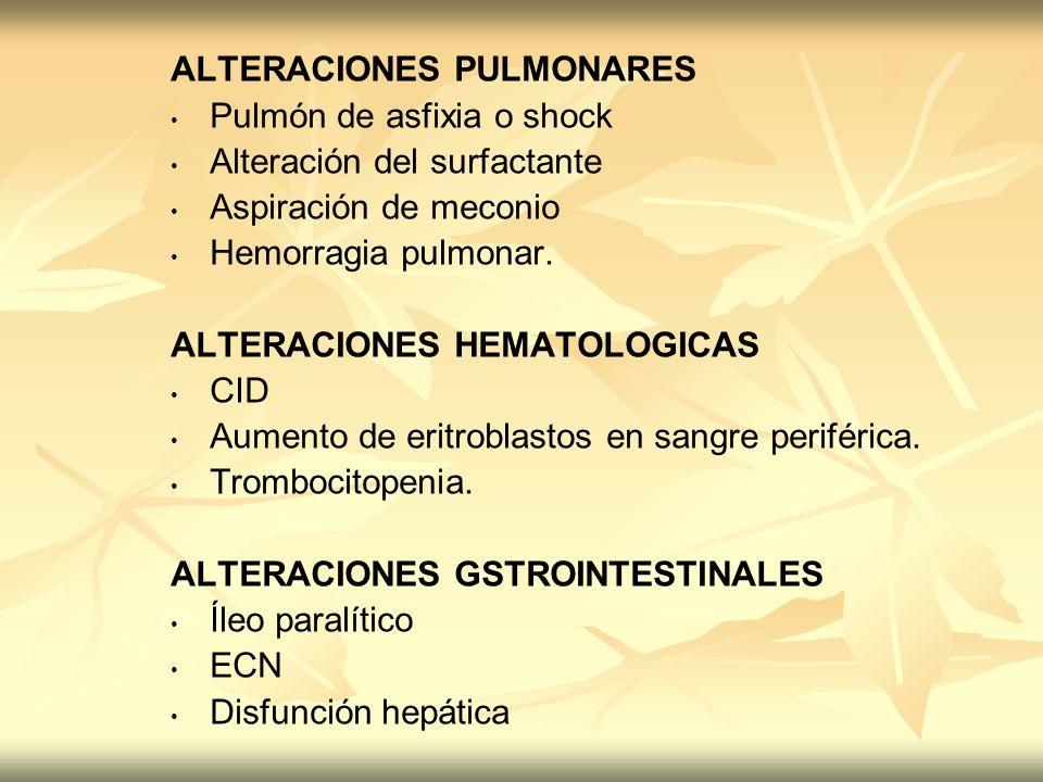 ALTERACIONES PULMONARES
