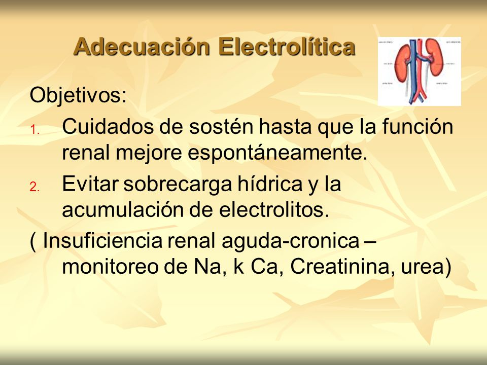 Adecuación Electrolítica