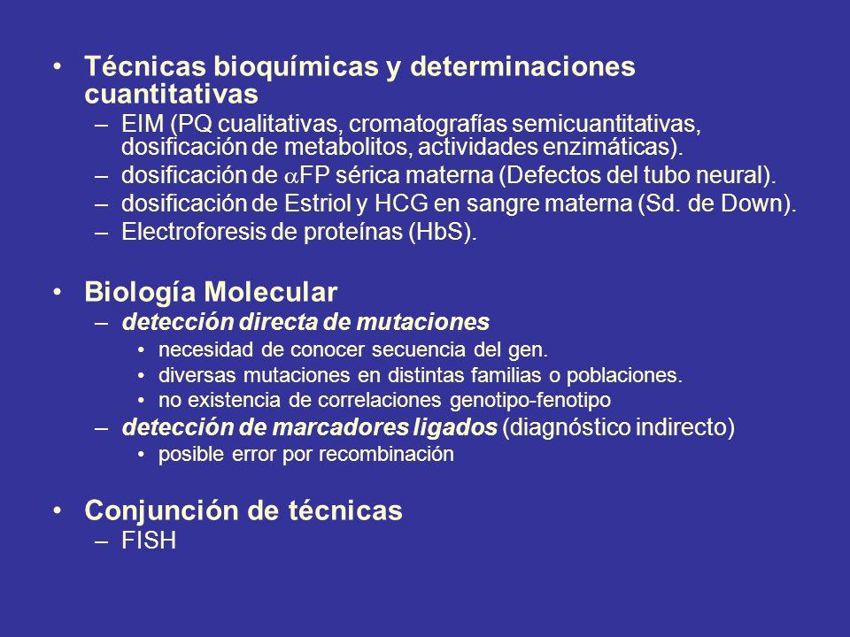 Técnicas bioquímicas y determinaciones cuantitativas