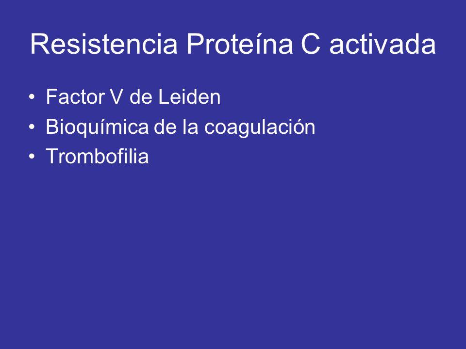 Resistencia Proteína C activada