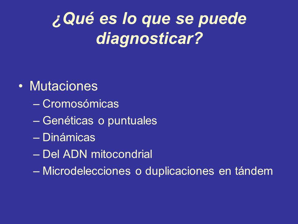 ¿Qué es lo que se puede diagnosticar